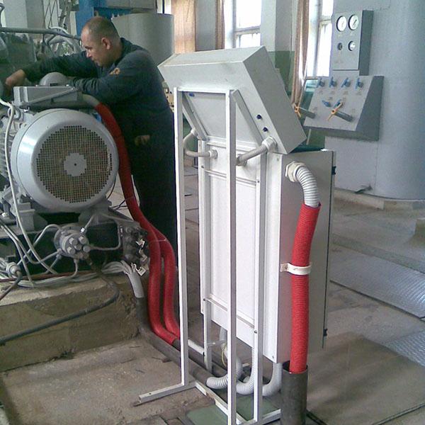 монтаж пульта управления подчи технических газов